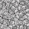 Vector clipart: seamless monochrome pattern with alstremerias