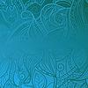 Векторный клипарт: бесшовный цветочный синий винтажный фон