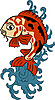 Vector clipart: japanese koi (carp fish)