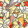 Vector clipart: seamless spring background with lily flowers