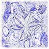 Векторный клипарт: бесшовные цветочный старинные фон