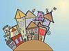 Vector clipart: concept medieval town