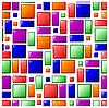 Векторный клипарт: бесшовные яркие текстуры плитки