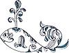 stylized ethnic whale