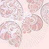 Векторный клипарт: современный цветочный фон гранж