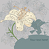 Vector clipart: card with lilies