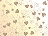 Vector clipart: seamless background with hearts and floral ornament