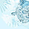 Векторный клипарт: старинные цветочные гранж фон