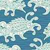 seamless pattern with koi carp fishes