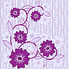 Vector clipart: background with blue and violet flowers