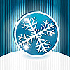 Vector clipart: snowflake with stripes