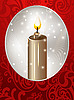 Vector clipart: christmas card with candle