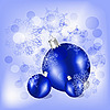 Vector clipart: christmas balls with snowflakes