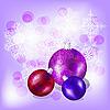 Vector clipart: christmas balls and snowflakes