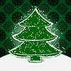 Vector clipart: christmas tree with snowflakes