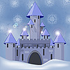 Vector clipart: castle in winter at night