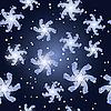 Векторный клипарт: бесшовный зимний фон со снежинками