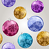 seamless pattern with shiny christmas balls