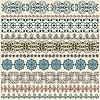 ten seamless vintage border patterns
