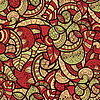 seamless doodle bright floral pattern