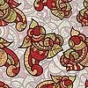 Векторный клипарт: бесшовных этнических каракули яркий цветочный узор