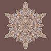 Векторный клипарт: рисованной цветок