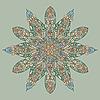 Векторный клипарт: рисованной цветочный элемент дизайна