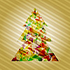Vector clipart: christmas tree of stars