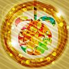 Векторный клипарт: елочный шар из блестящих звезд