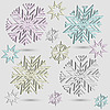 Векторный клипарт: снежинки