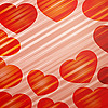 Vector clipart: background of bright hearts