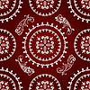 Vector clipart: seamless paisley pattern
