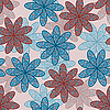 Векторный клипарт: бесшовных каракули фон цветок