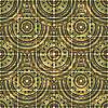 Vector clipart: seamless background with oriental circle pattern