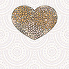 Vector clipart: heart with floral pattern