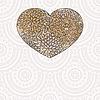 Векторный клипарт: сердце с цветочным узором