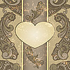 Vector clipart: heart with paisley pattern