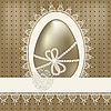 Vintage easter greeting card with golden egg | Stock Vector Graphics