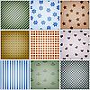 Vector clipart: set of nine retro seamless patterns