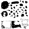 Vector clipart: over 30 grunge brushes with examples