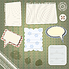 set of scrapbook design elements