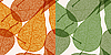 Vector clipart: background with autumn leaves