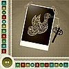 Vektor Cliparts: allegorische Zusammensetzung mit Vogel und Schlüssel mit einem Fram