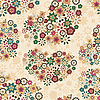 seamless pattern with flower hearts