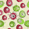 seamless spring background, abstract floral elements