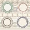 Vektor Cliparts: Lacy Servietten auf nahtlose Muster