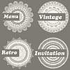 Vector clipart: four lacy templates