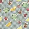 бесшовные модели с фруктами и ягодами