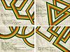 Ретро-фоны с абстрактными фигурами
