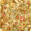 seamless floral wallpaper on striped background,
